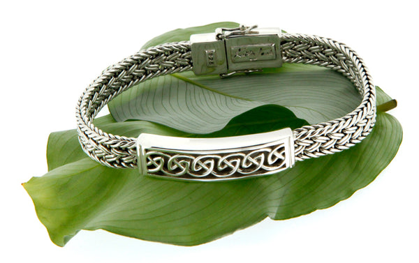 Celtic Weave Eternity Bar Bracelet