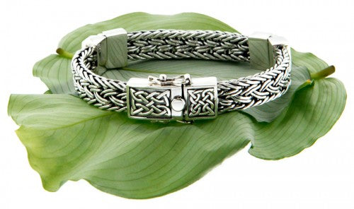 Celtic Weave Eternity Hinged Bracelet