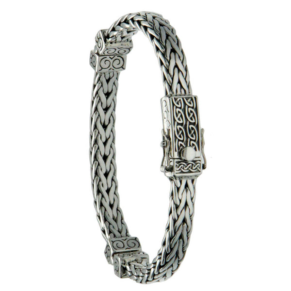 Celtic Square Hinged Dragon Weave Bracelet