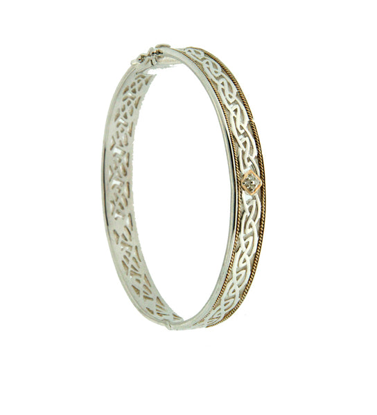 Window to The Soul Bangle with diamonds