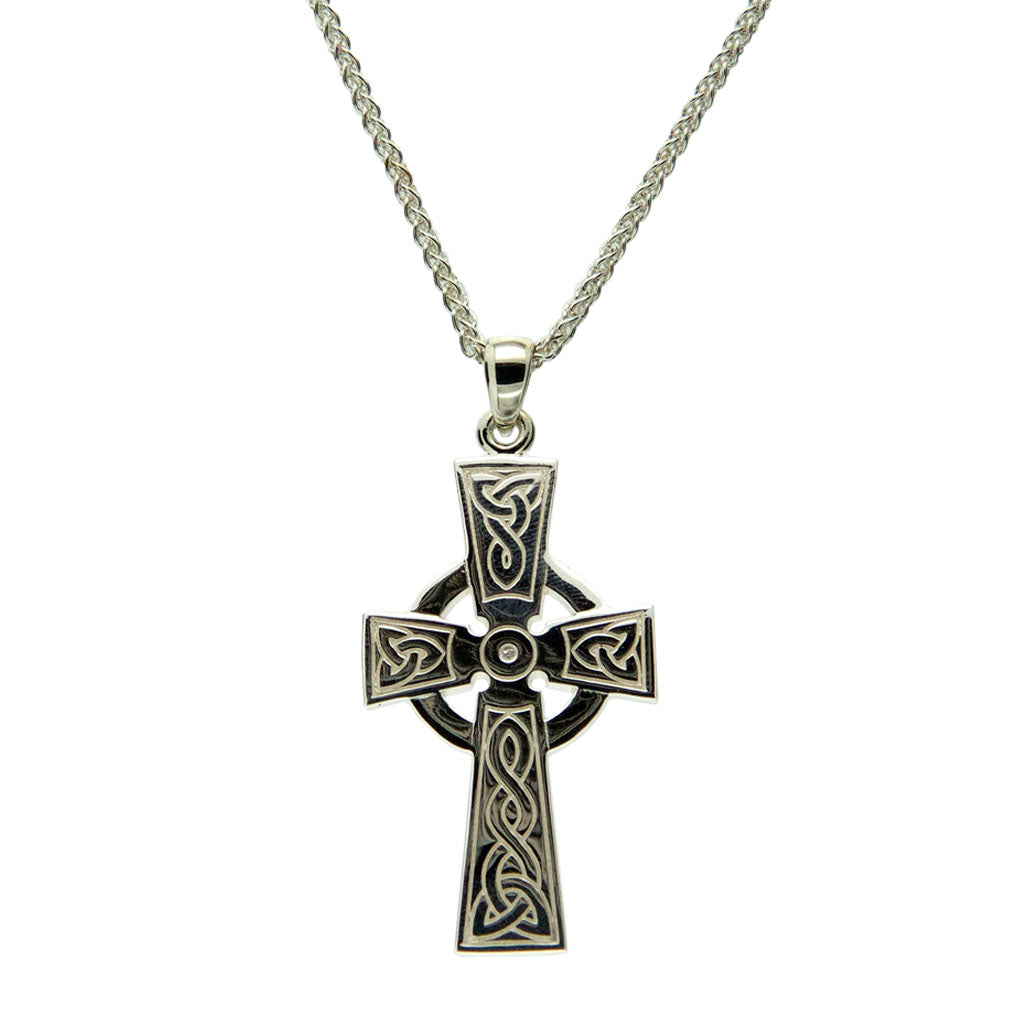 Celtic Cross - Sterling Silver - Large