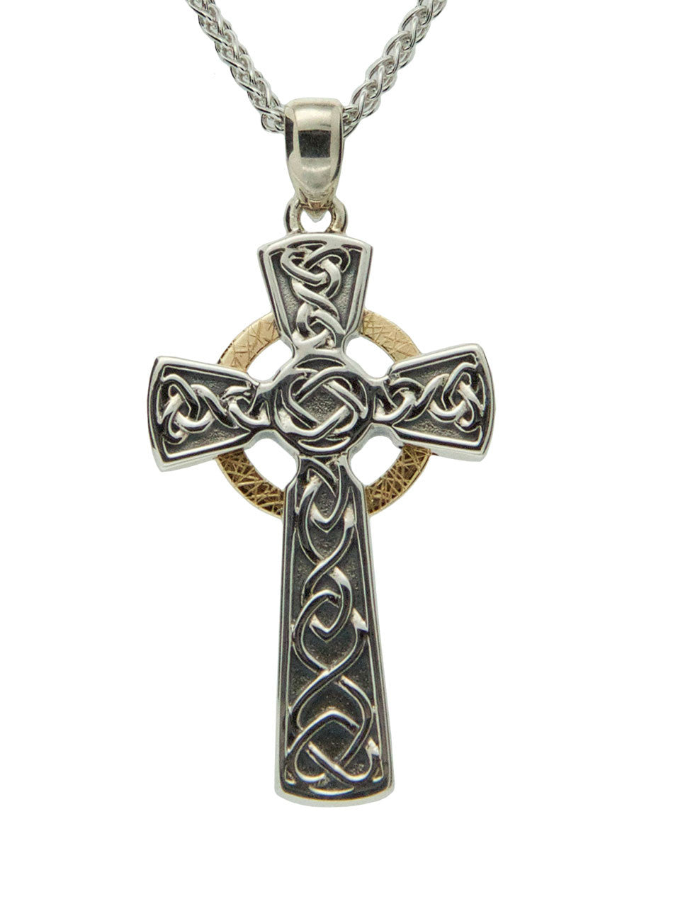 Celtic Cross - Oxidized Circle Cross - Large
