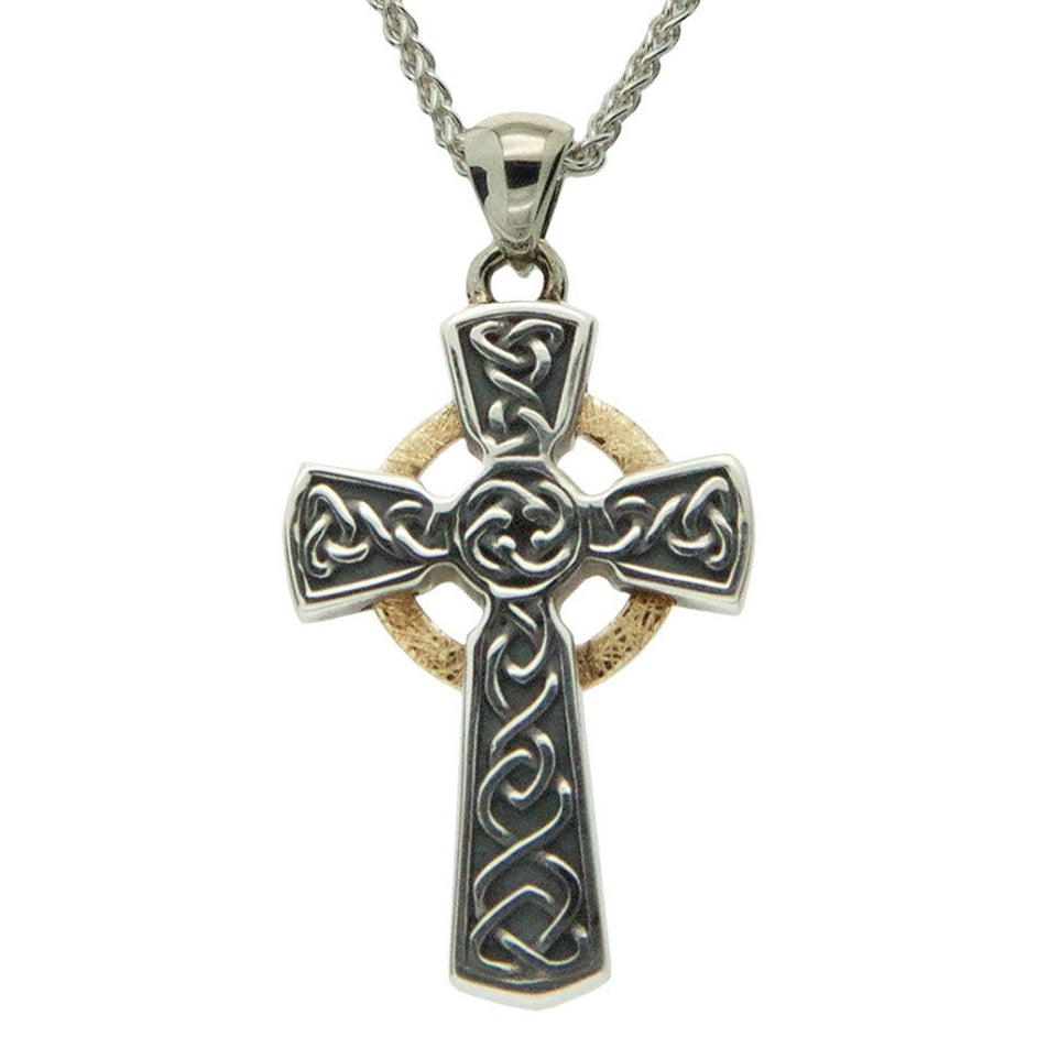Celtic Cross - Oxidized Circle Cross