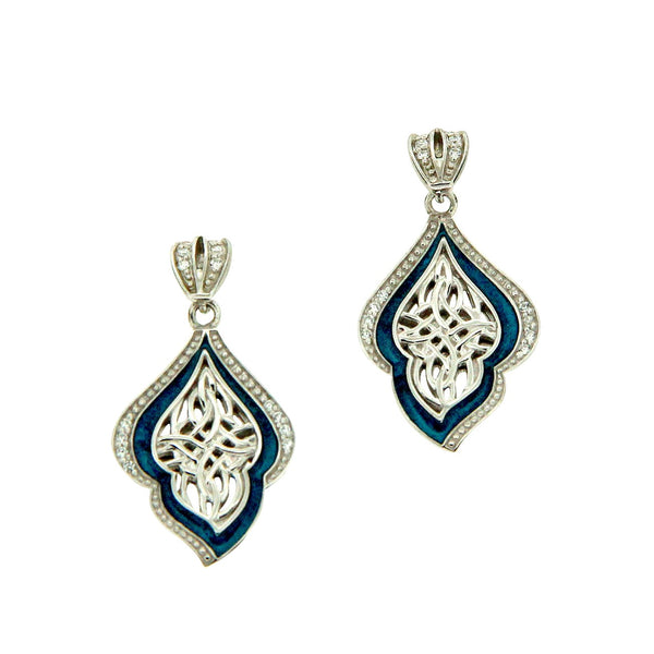 Path of Life Enamel Earrings - Sterling Silver