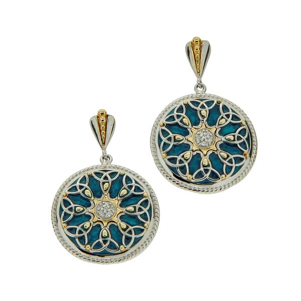 Trinity Knot Enamel Earrings