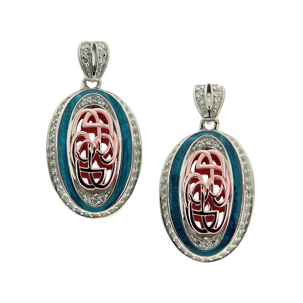 Path of Life Enamel Oval Earrings