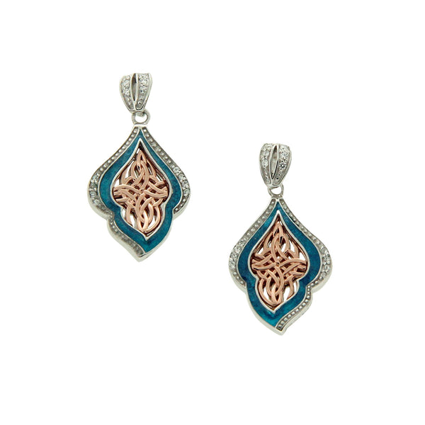 Path of Life Enamel Earrings