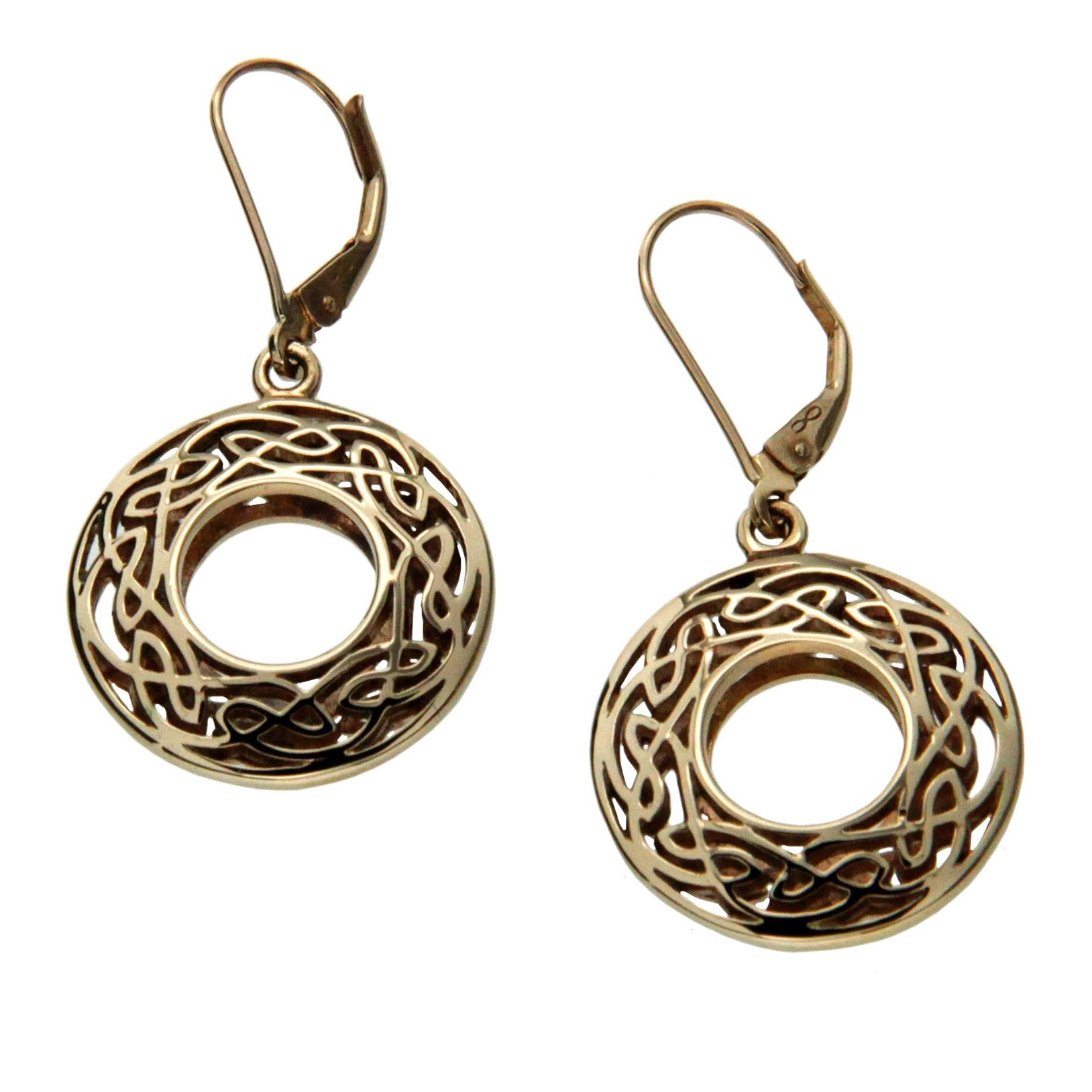 Window to The Soul Earrings Round - Gold
