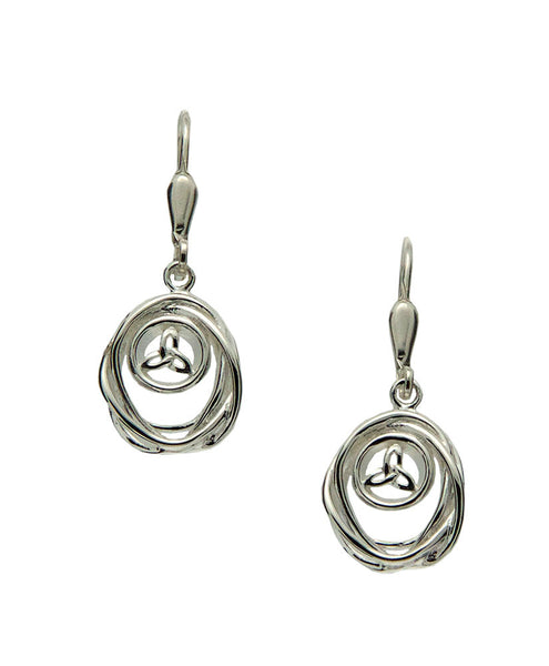 Celtic Cradle of Life Earrings - Sterling Silver