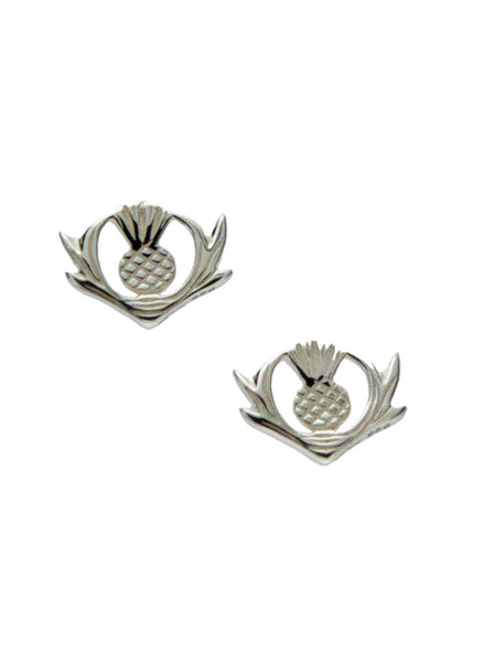 Scottish Thistle Earrings - Sterling Silver