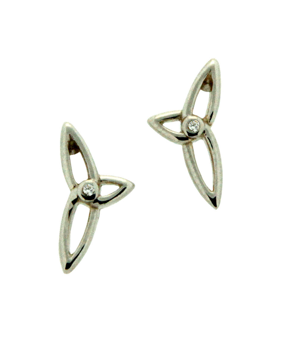 Celtic Synergy Diamond Trinity Earrings