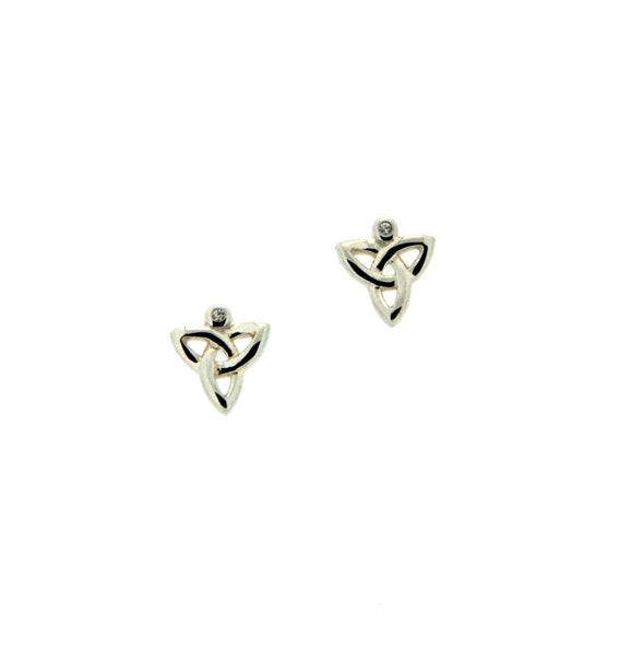 Trinity Post Earrings w/Diamond