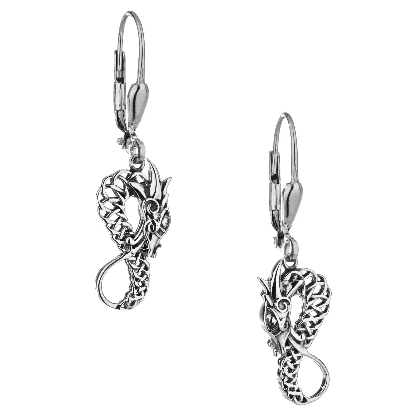 Norse Forge Dragon Earrings - Sterling Silver