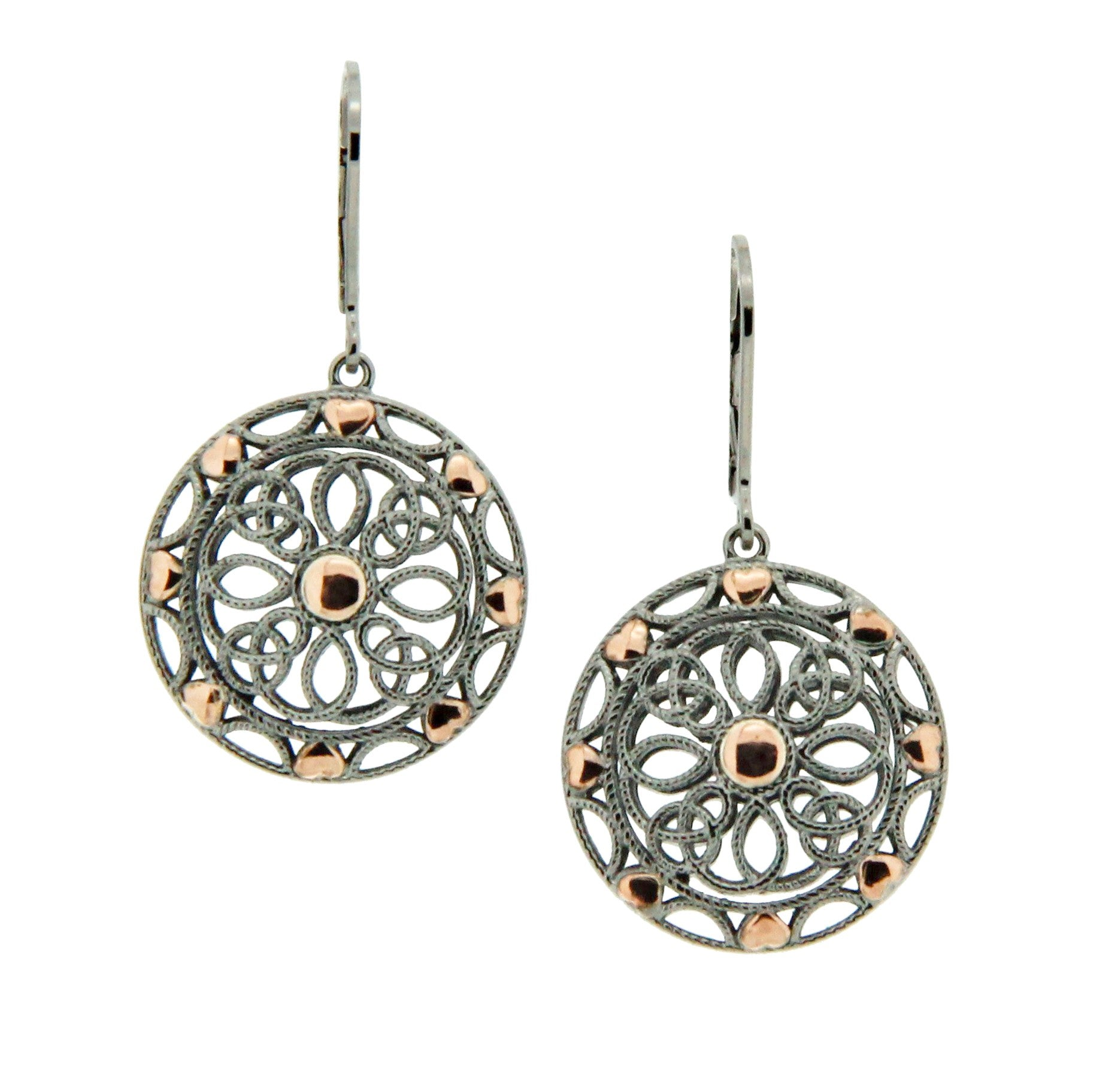 Ashen Rose Earrings
