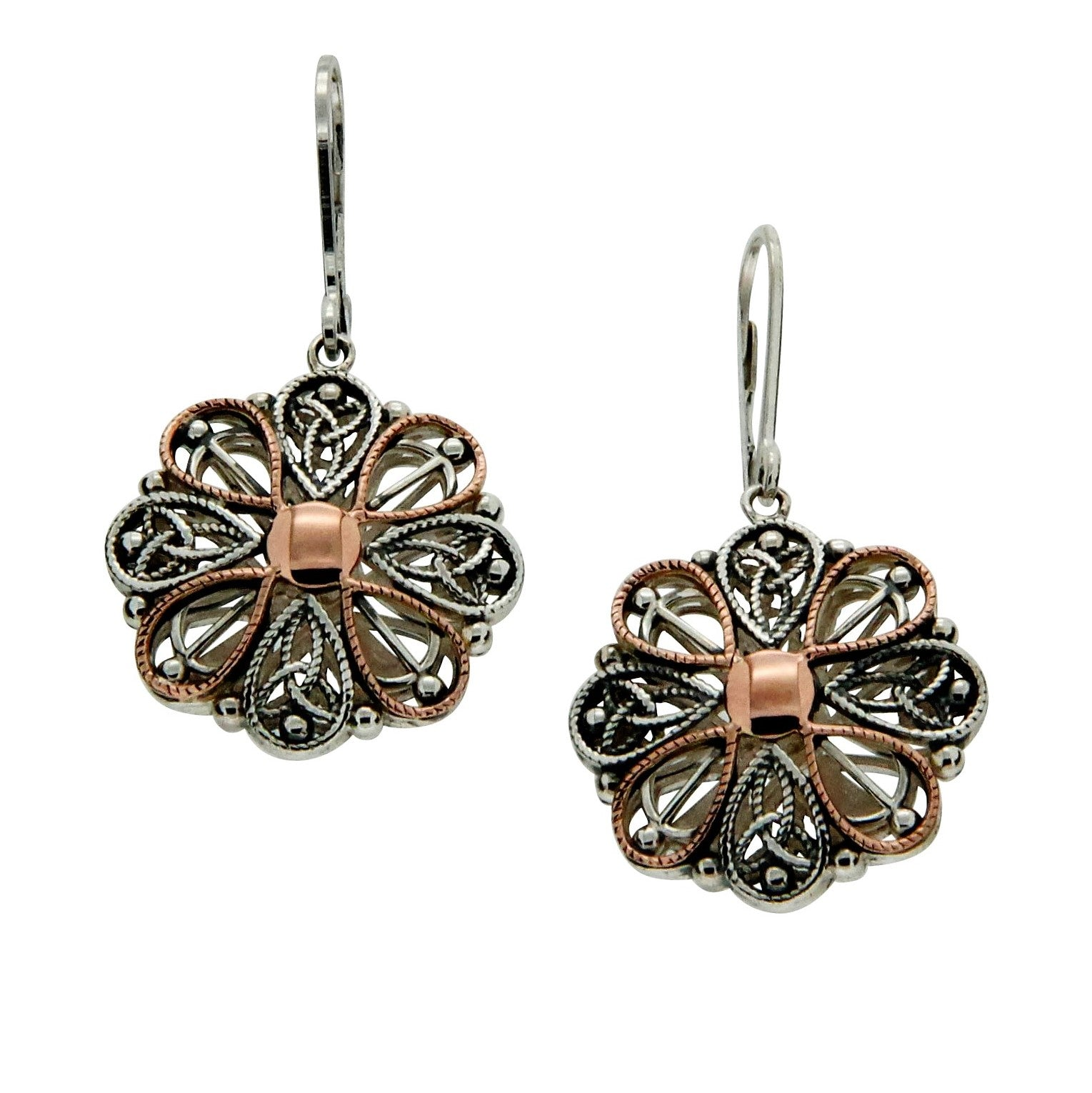 Ashen Rose Trinity Earrings