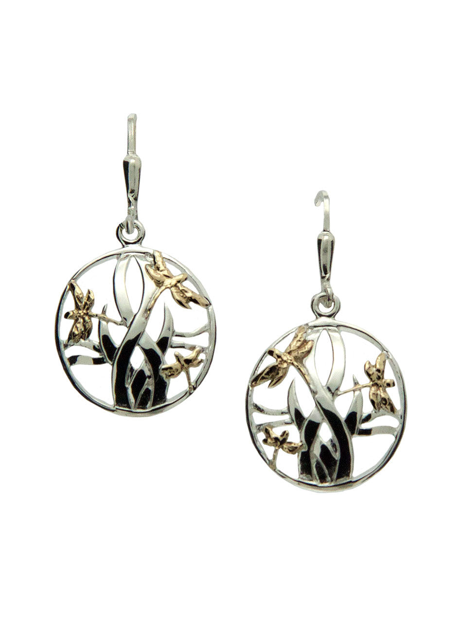 Dragonfly in Reeds Earrings