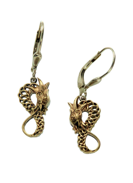 Norse Forge Dragon Earrings