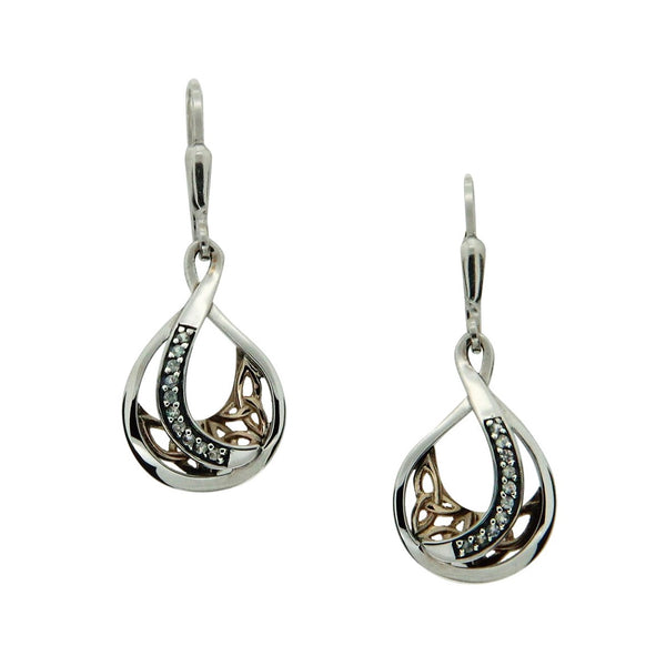 Teardrop Trinity Knot Earrings Large