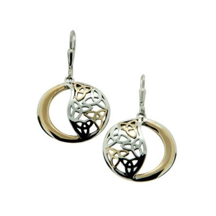 Round Celtic Trinity Earrings