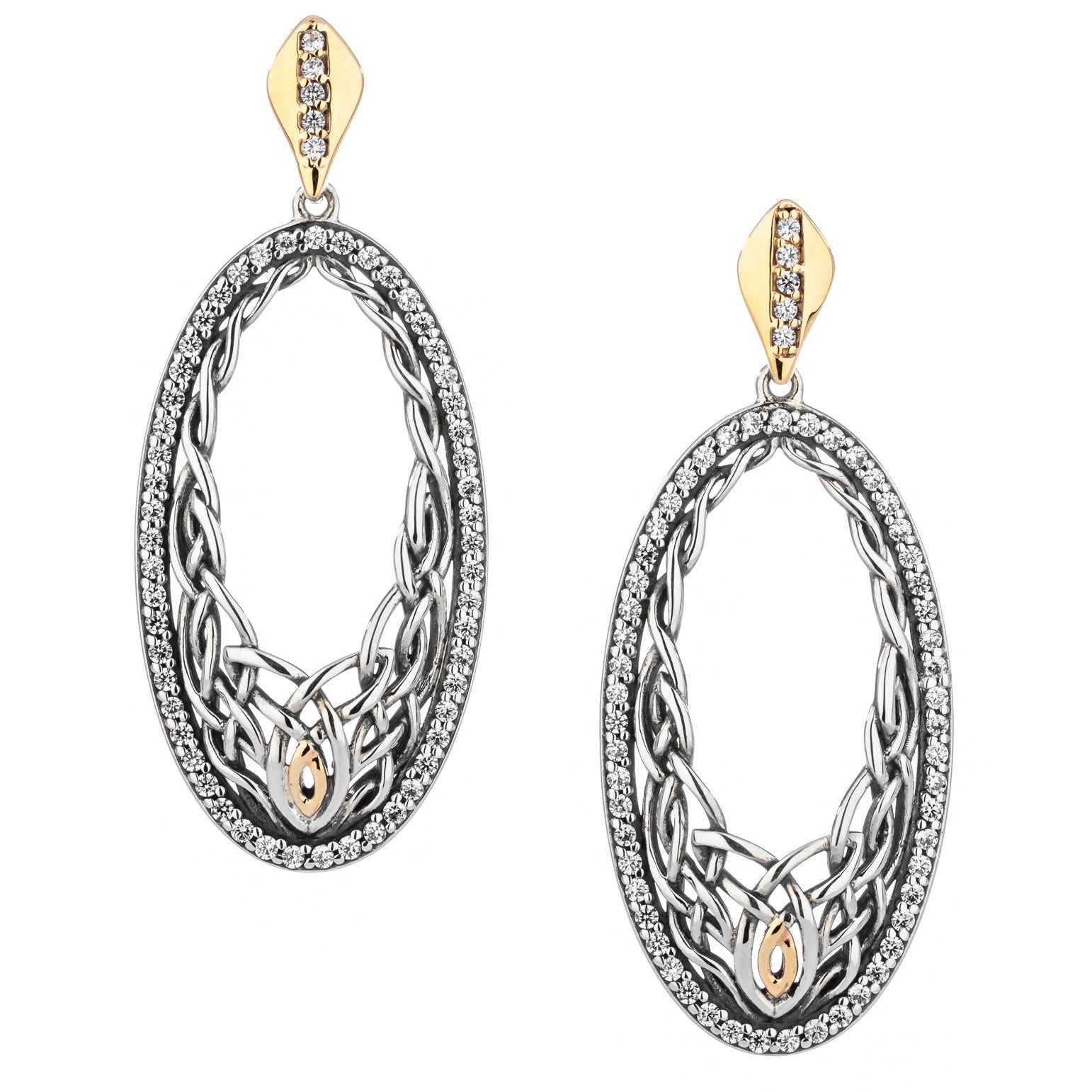 Woven Oval Gateway Earrings