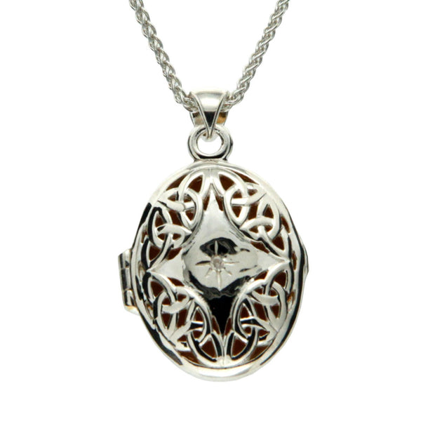 Trinity Knot Diamond Locket