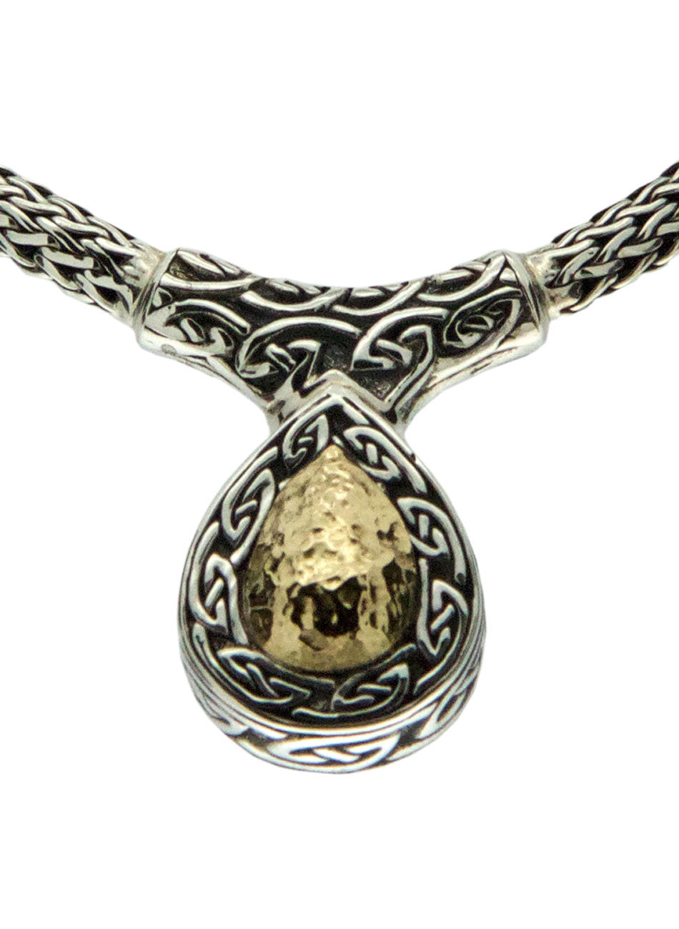 Solstice Hammered Necklet Teardrop