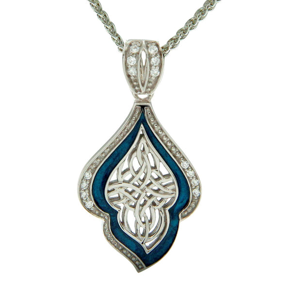 Path of Life Enamel Pendant - Sterling Silver