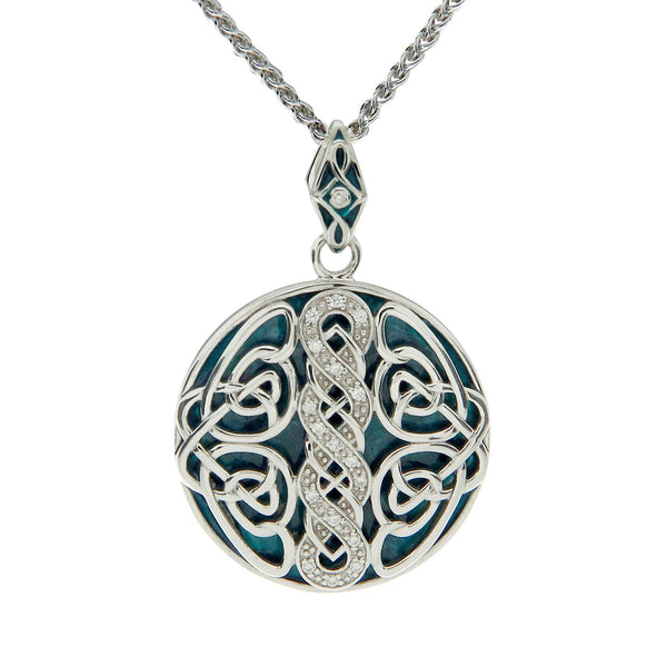 Norse Knot Path of Life Enamel Pendant Large