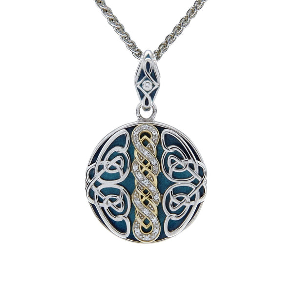 Norse Knot Path of Life Enamel Pendant