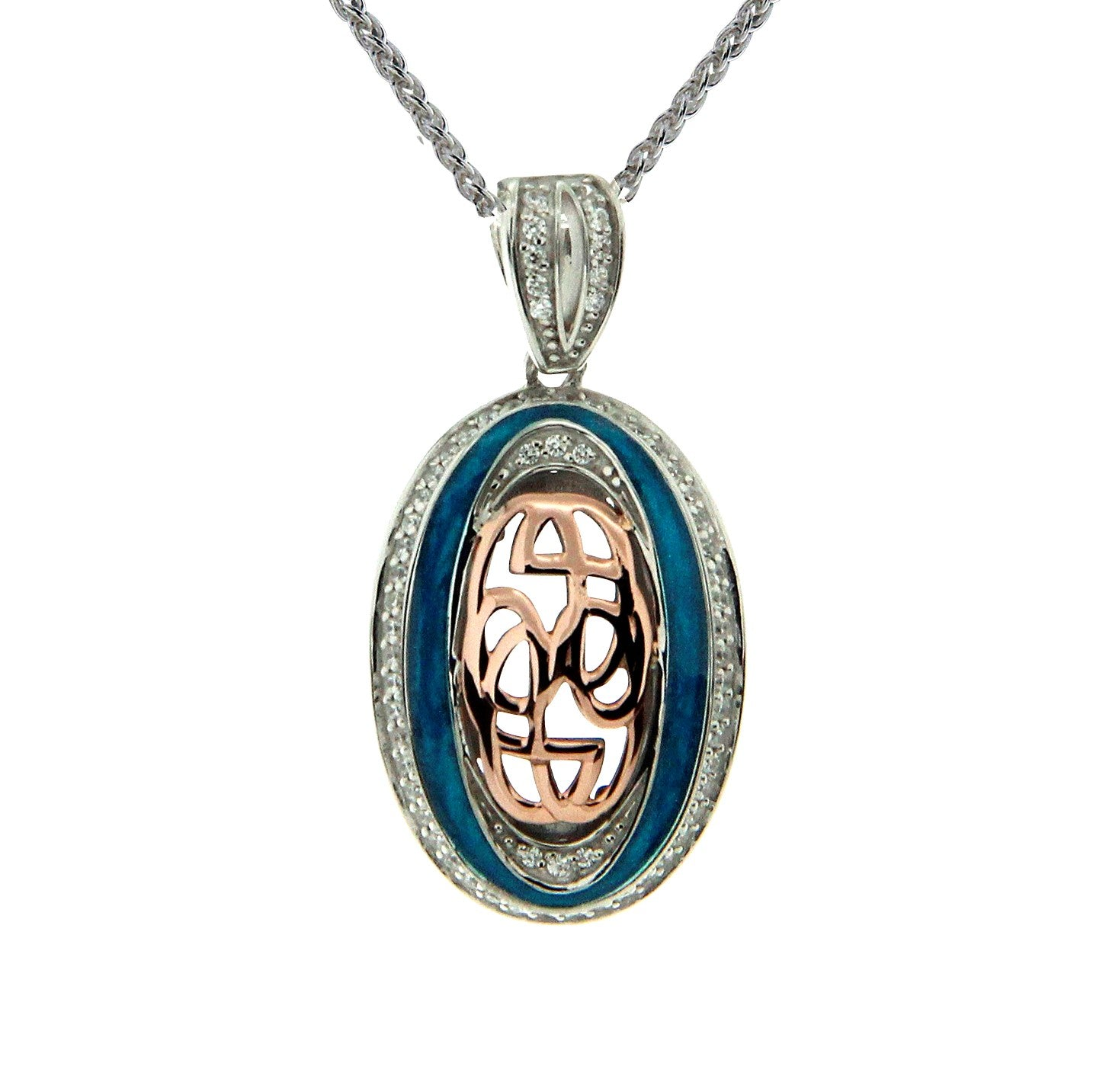 Path of Life Enamel Oval Pendant