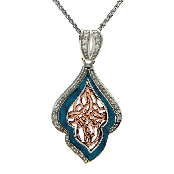 Path of Life Enamel Pendant
