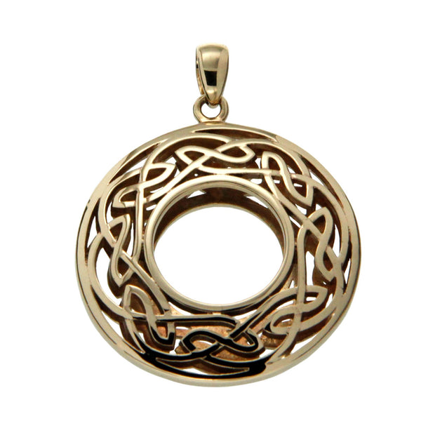 Window to The Soul Pendant Round Large - Gold