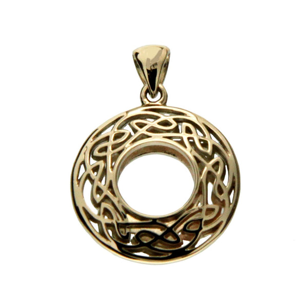 Window to The Soul Pendant Round Small - Gold