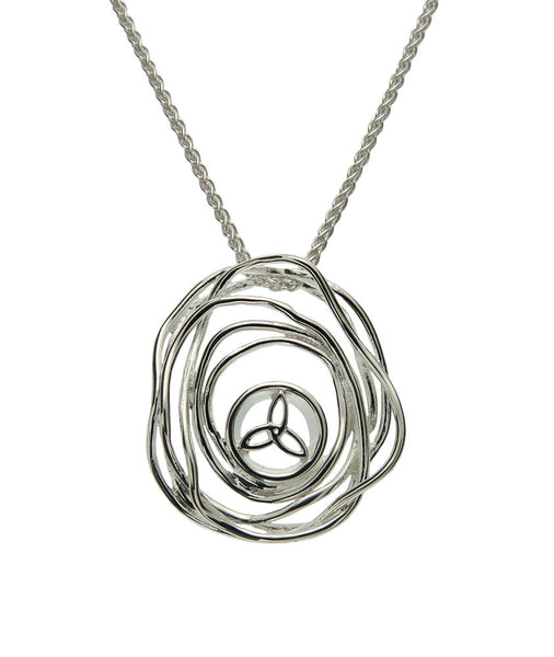 Celtic Cradle of Life Pendant - Sterling Silver