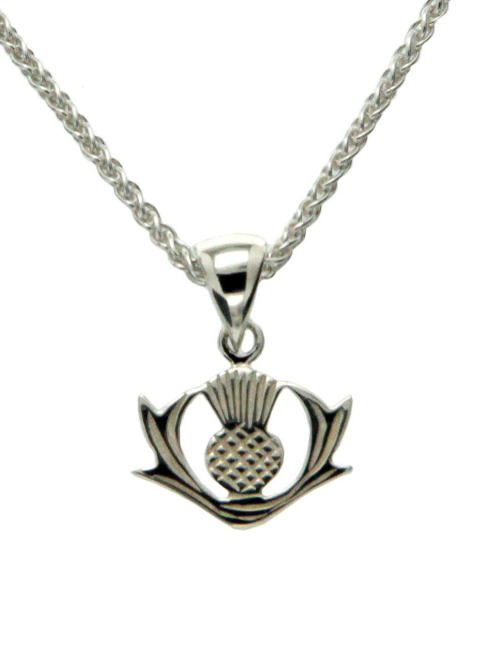 Scottish Thistle Pendant - Sterling Silver