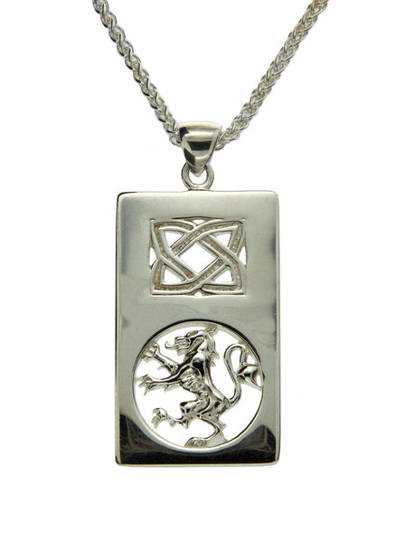 Scottish Rampant Pendant - Sterling Silver
