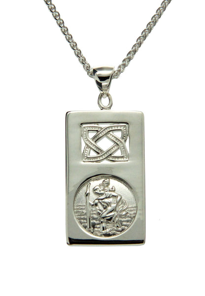 Saint Christopher Pendant - Sterling Silver