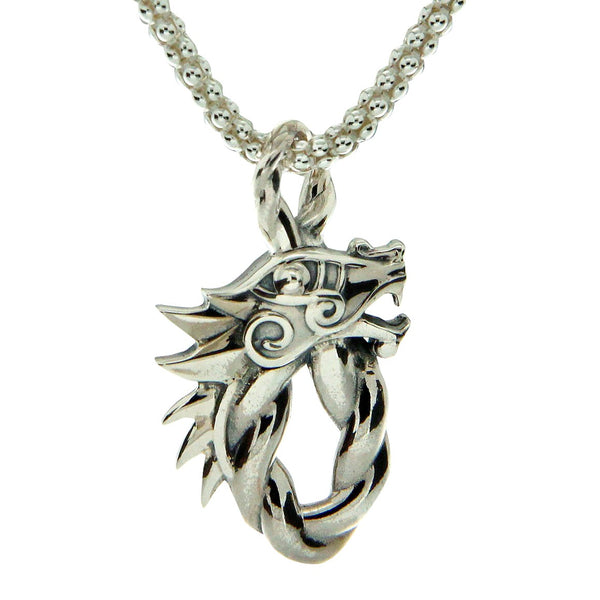 Dragon Head Oval Pendant