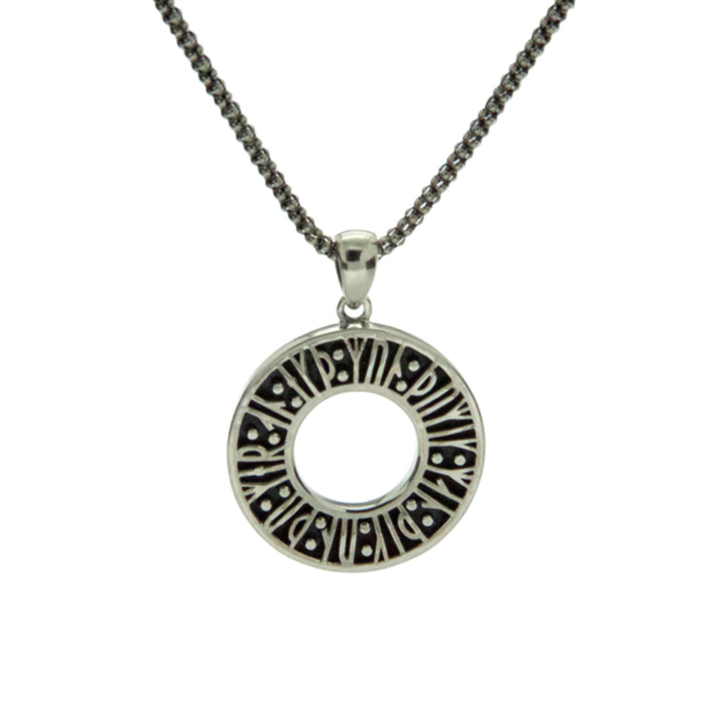 "Norse Forge Runes ""Remember me…"" Pendant Sterling Silver"