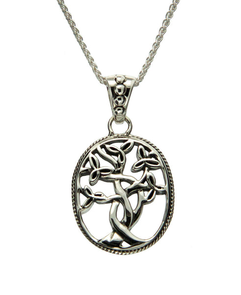 Tree of Life Trinity Pendant - Sterling Silver