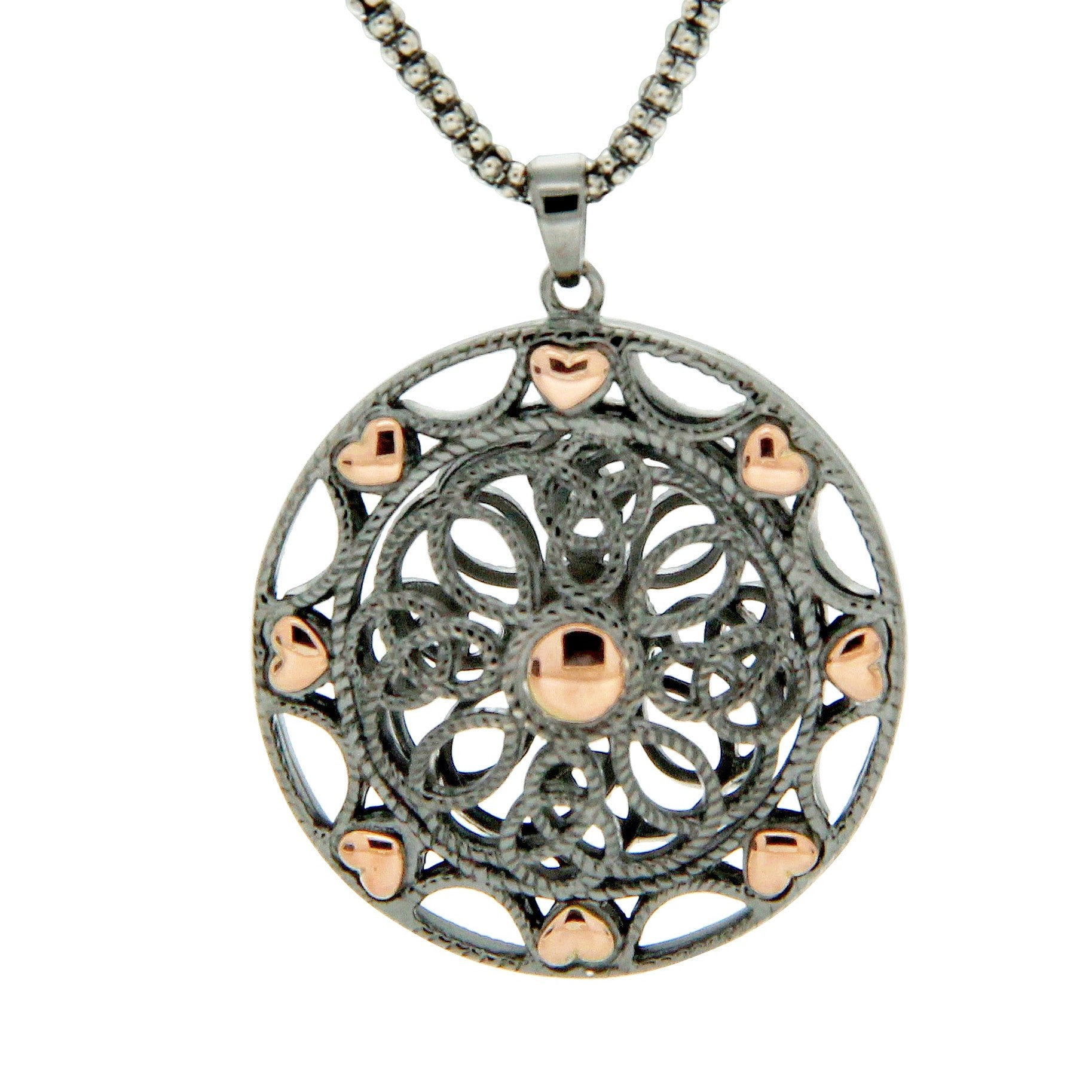 Ashen Rose Pendant Small