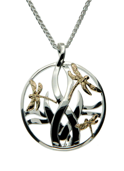 Dragonfly in Reeds Pendant