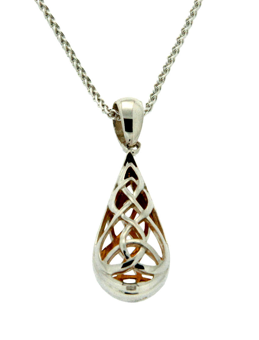 Trinity Knot Pendant - Sterling Silver and 22k Gilding