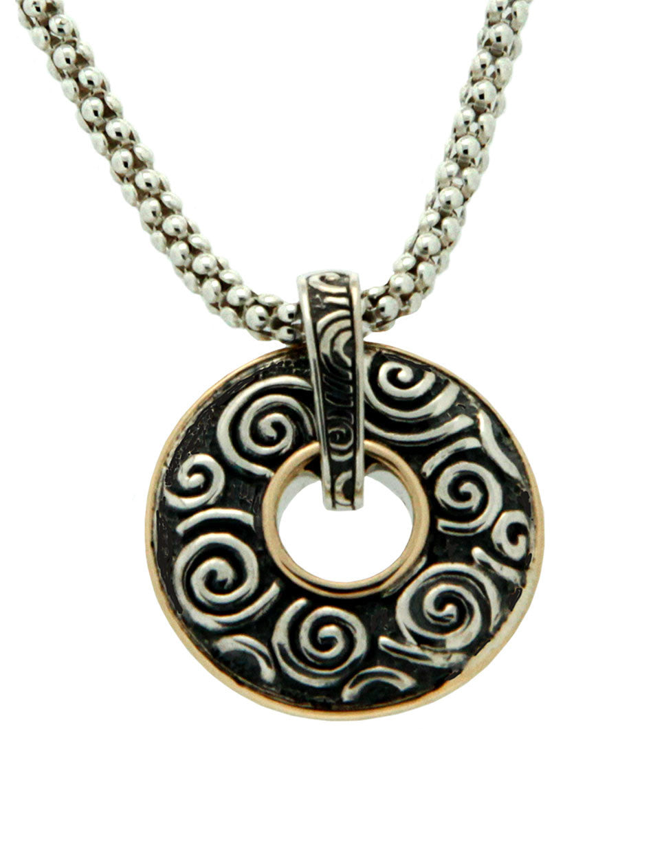 Path of Life - Spirals & Leaves Reversible Pendant
