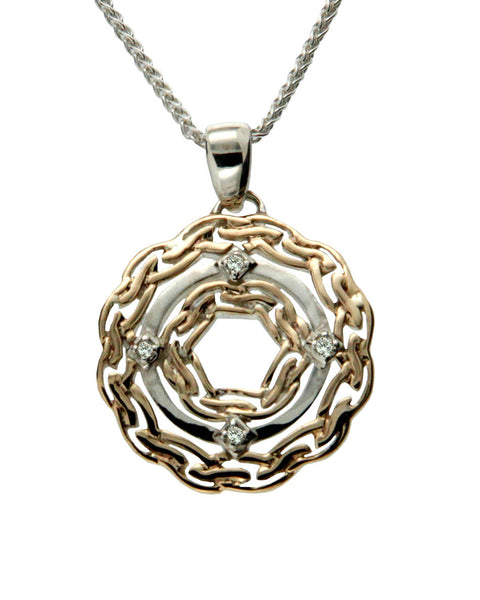 Path of Life - Waves Pendant White Sapphire or Diamond