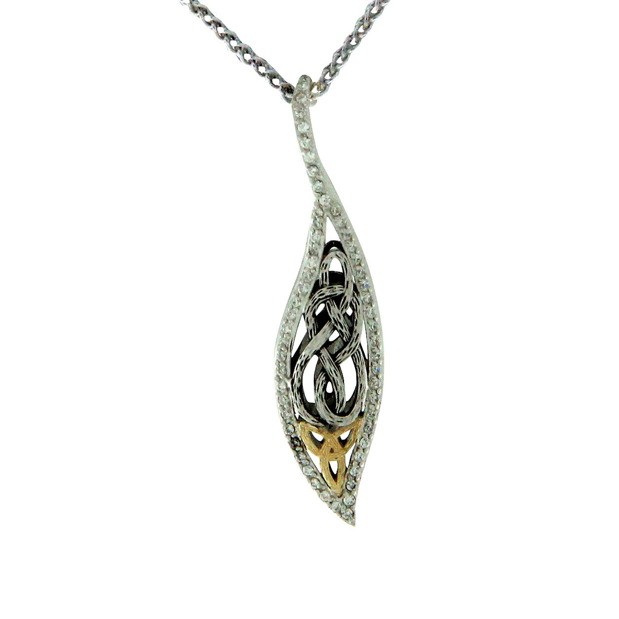 Barked Leaf Pendant