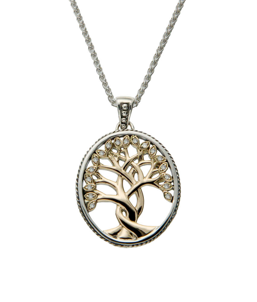 Tree of Life Pendant - Diamond Set