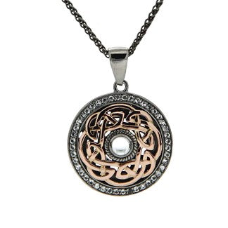Path of Life Pendant - Ruthenium and Rose Gold