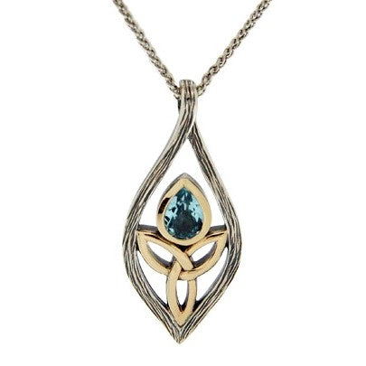 Guardian Angel Pendant - Sky Blue Topaz