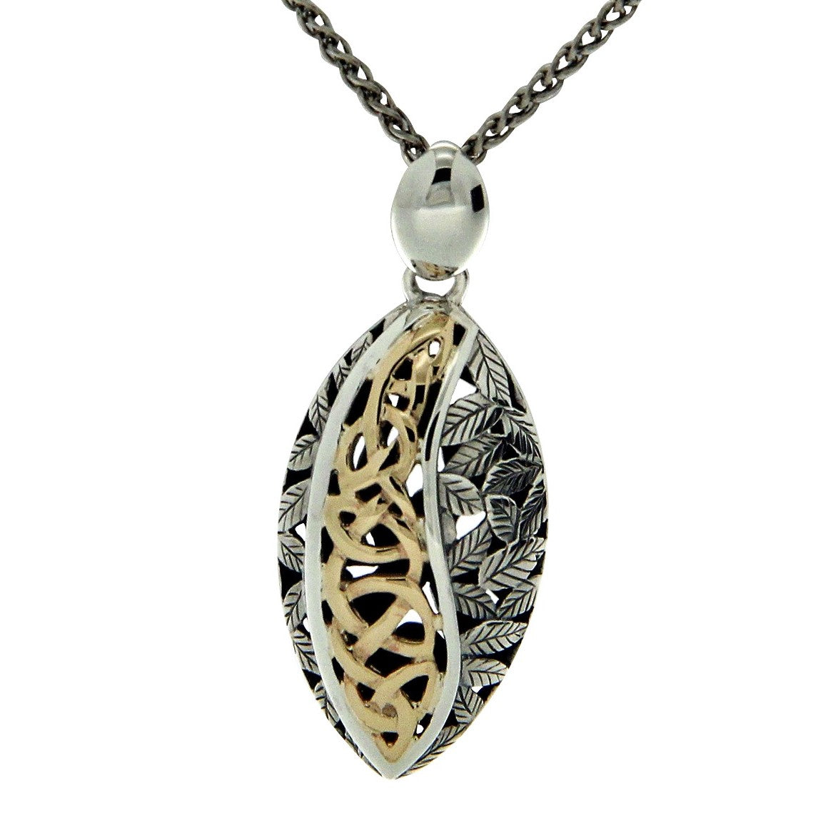 Eternity Leaf Pendant